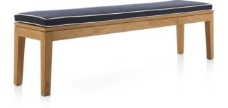 Regatta Dining Bench with Cushion shown in Sunbrella, Dark Navy