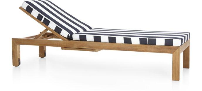 Regatta Chaise Lounge with Cushion shown in Sunbrella, Cabana Stripe