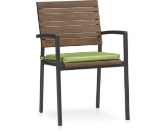 Rocha Dining Chair with Cushion shown in Sunbrella, Kiwi