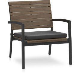 Rocha Lounge Chair with Cushion shown in Sunbrella, Charcoal