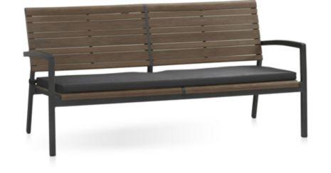 Rocha Sofa with Cushion shown in Sunbrella, Charcoal
