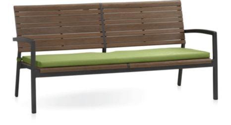 Rocha Sofa with Cushion shown in Sunbrella, Kiwi