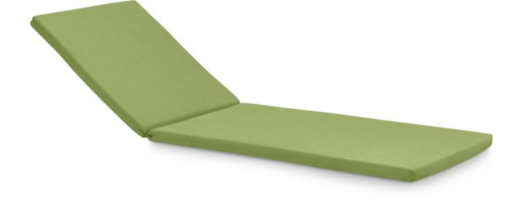 Rocha Chaise Lounge Cushion shown in Sunbrella, Kiwi