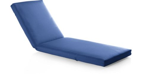 Alfresco Sunbrella Chaise Lounge Cushion shown in Sunbrella, Mediterranean Blue