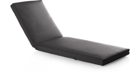 Alfresco Sunbrella ® Chaise Lounge Cushion shown in Sunbrella, Charcoal