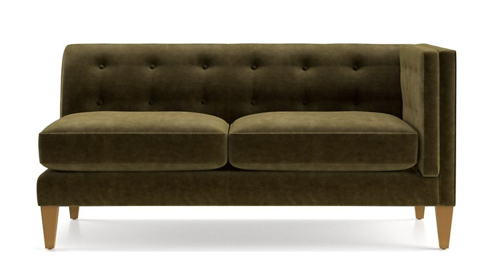 Aidan Velvet Right Arm Tufted Loveseat - Image 2 of 7