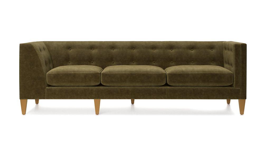 Aidan Velvet Right Arm Tufted Corner Sofa - Image 2 of 7