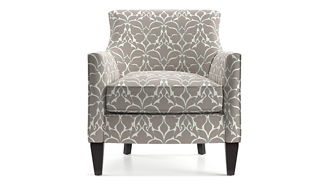 Clara Chair shown in Fleur, Platinum