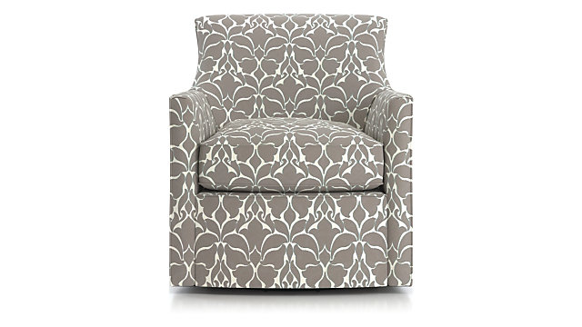 Clara Swivel Accent Chair Crate And Barrel