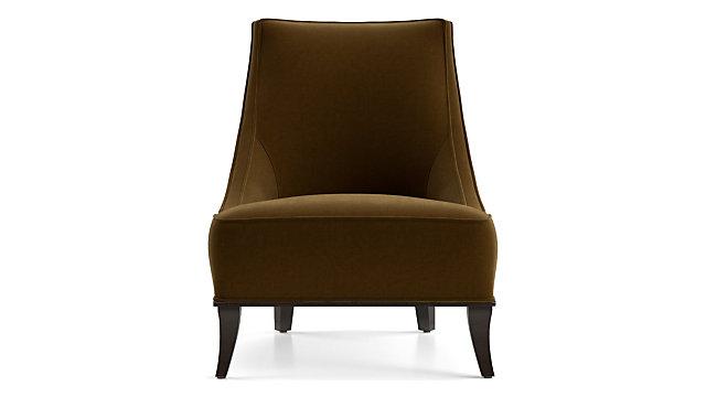 Matisse Armless Slipper Chair shown in Como, Cognac