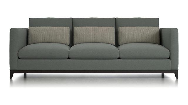 Tap To Zoom Taraval 3 Seat Oak Wood Base Sofa Shown In Darien Carbon Frame