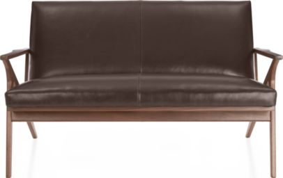 Cavett Loveseat Leather shown in Libby, Sumatra