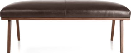 Cavett Leather Wood Frame Bench shown in Libby, Sumatra