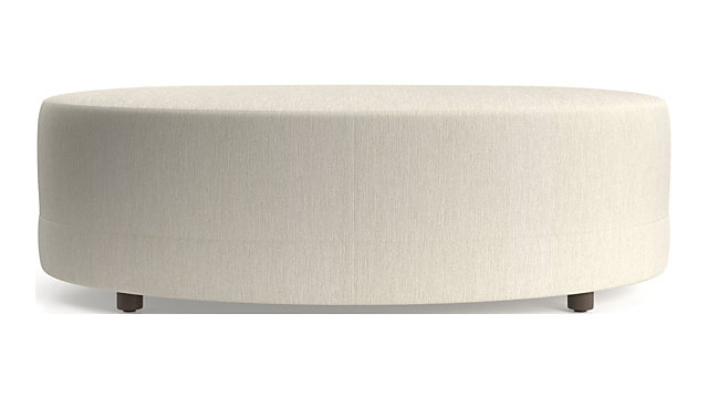 Infiniti Ottoman shown in Synergy, Oatmeal