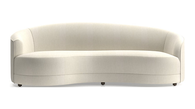 Infiniti Grande Curve Back Sofa shown in Synergy, Oatmeal