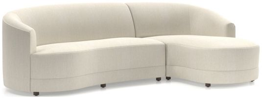 Infiniti 2-Piece Curve Back Sectional shown in Synergy, Oatmeal