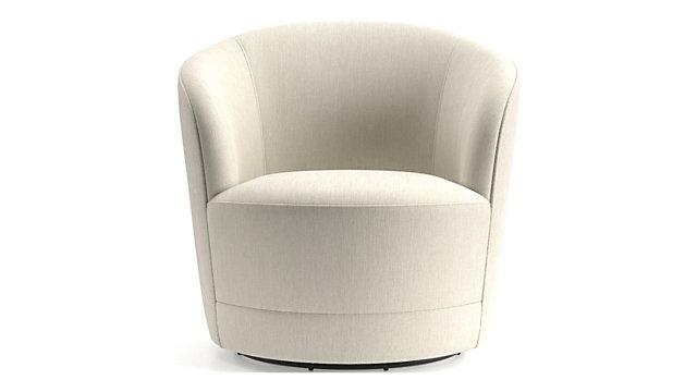 Infiniti Swivel Chair shown in Synergy, Oatmeal