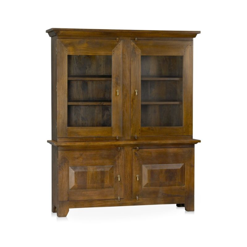 Basque Honey Buffet With Hutch Top In Buffets & Sideboards