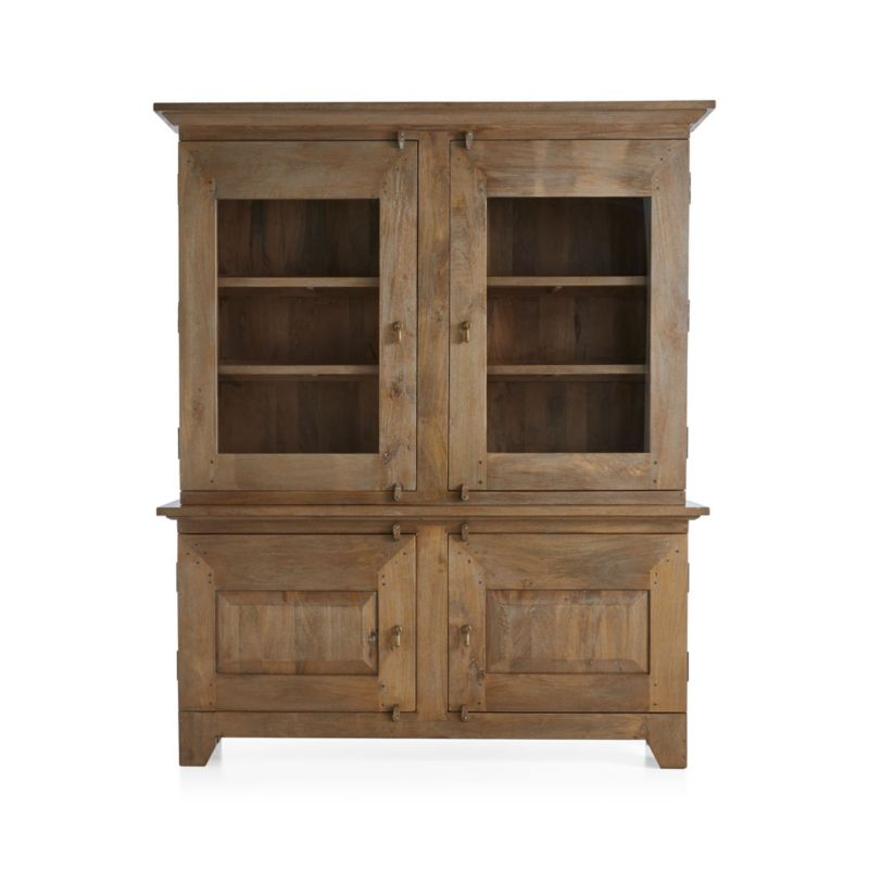Basque Grey Wash Buffet With Hutch Top In Dining Tables