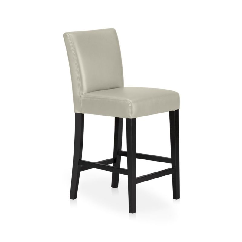 Lowe Pewter Leather Counter Stool Crate And Barrel
