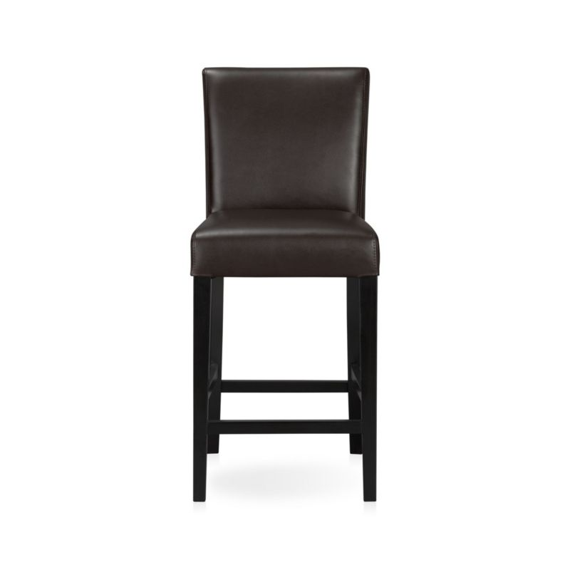 Lowe Chocolate Leather Counter Stool In Bar Stools