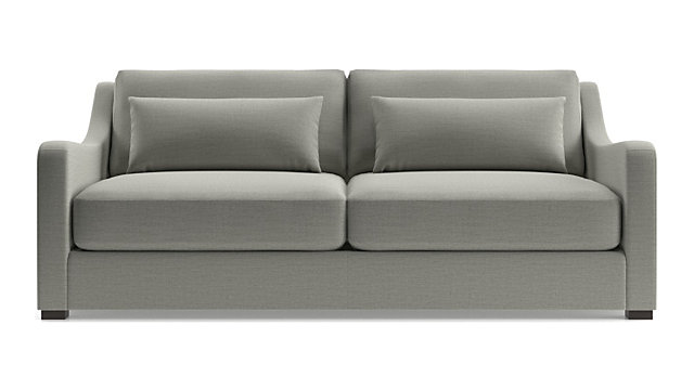 Verano II Petite Slope Arm Sofa shown in Traxx, Cloud