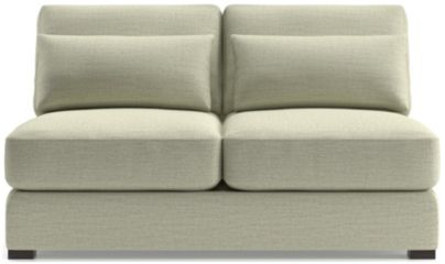 Verano II Armless Loveseat shown in Traxx, Cloud