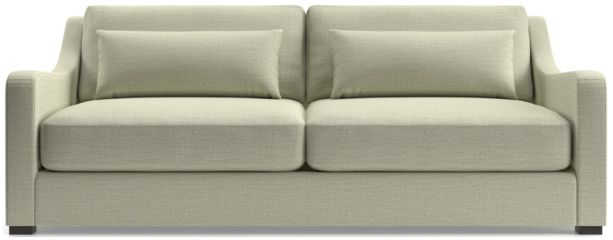 Verano II Slope Arm Sofa shown in Traxx, Cloud