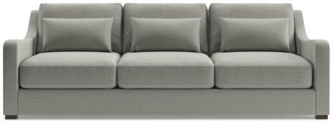 """Verano II 102"""" Grande Slope Arm Sofa shown in Traxx, Cloud"""