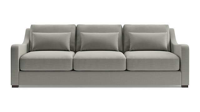 "Verano II 102"" Grande Slope Arm Sofa shown in Traxx, Cloud"