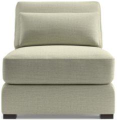 Verano II Armless Chair shown in Traxx, Cloud
