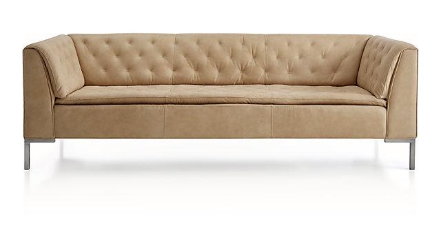 Grafton Leather Chesterfield Sofa shown in Lynx, Buff