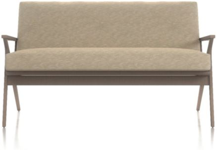Cavett Wood Frame Loveseat shown in Dandy, Twine