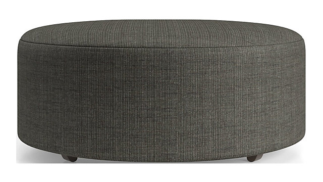 "Syd 38"" Round Cocktail Ottoman shown in Mystic, Stout"