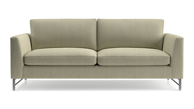 Tyson Sofa with Stainless Steel Base shown in Vail, Linen