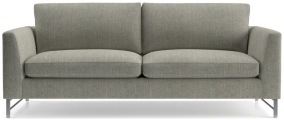 Tyson Sofa with Stainless Steel Base shown in Vail, Storm