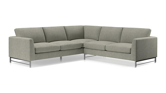 Tyson 2 Piece Right Arm Corner Sofa Sectional With Stainless Steel Base Crate And Barrel