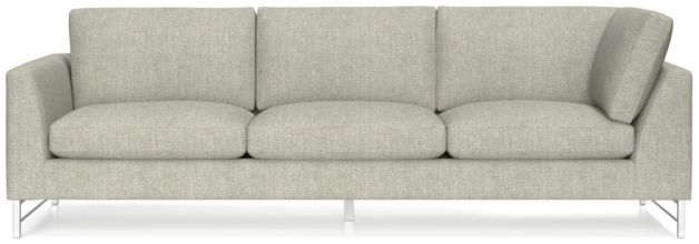 Tyson Left Arm Corner Sofa with Stainless Steel Base shown in Vail, Storm
