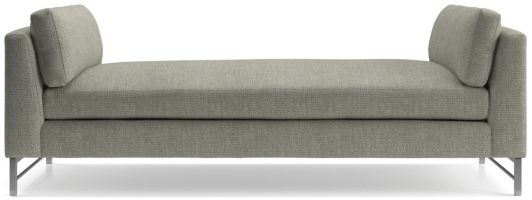 Tyson Daybed with Stainless Steel Base shown in Vail, Storm