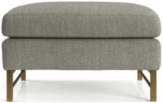 Tyson Ottoman with Brass Base shown in Vail, Storm