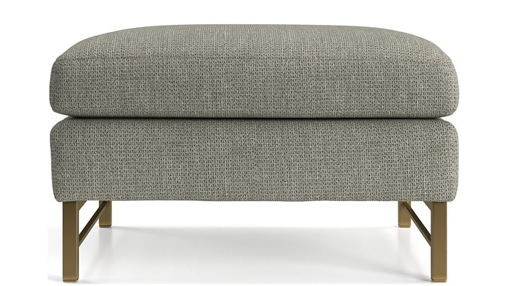 Tyson Ottoman with Brass Base - Image 2 of 5
