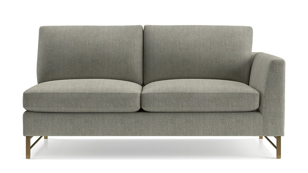 Tyson Right Arm Sofa with Brass Base - Image 2 of 5