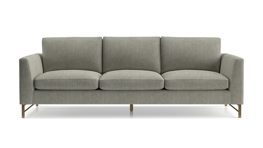 "Tyson 102"" Grande Sofa with Brass Base - Image 2 of 6"