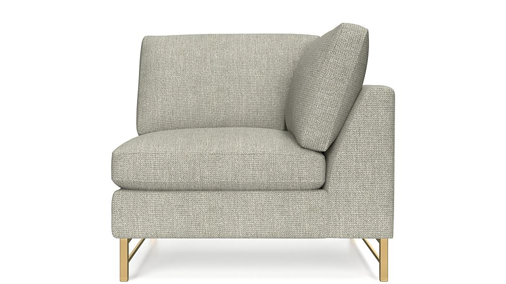 Tyson Right Corner Chair with Brass Base - Image 2 of 4