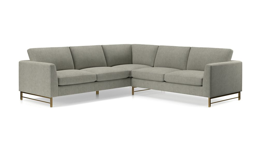 Tyson 2-Piece Right Arm Corner Sofa Sectional with Brass Base - Image 2 of 3