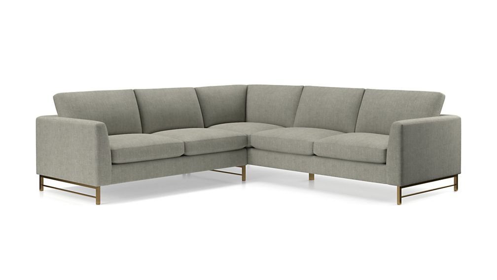 Tyson 2-Piece Left Arm Corner Sofa Sectional with Brass Base - Image 2 of 3