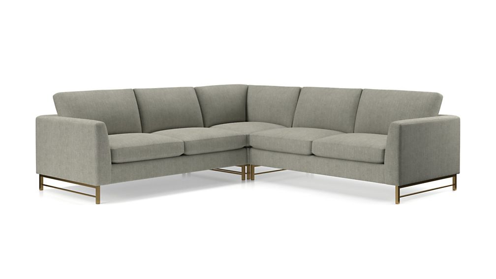 Tyson 3-Piece Left Corner Sectional with Brass Base - Image 2 of 3