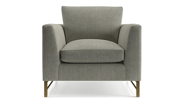Tyson Chair with Brass Base shown in Vail, Storm