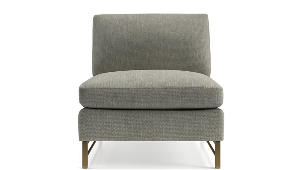 Tyson Armless Chair with Brass Base - Image 2 of 5