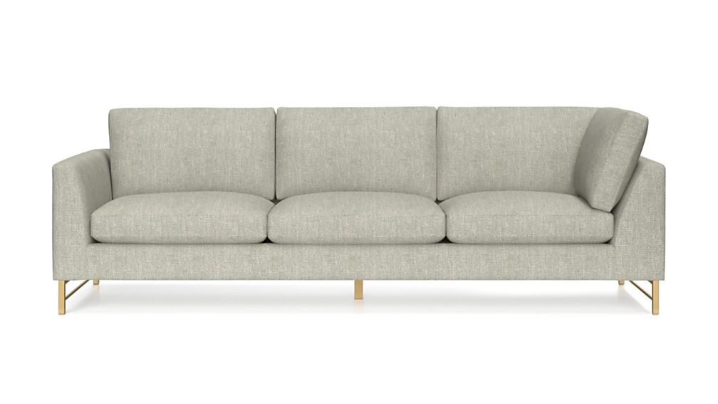 Tyson Left Arm Corner Sofa with Brass Base - Image 2 of 5